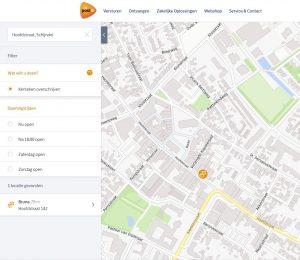screenshot van RDW overschrijvingsservice op PostNL website