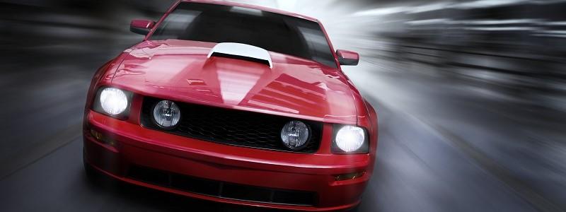 sportieve sportauto die dient te worden verzekerd